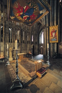 St Cuthbert's shrine at Durham Cathedral
