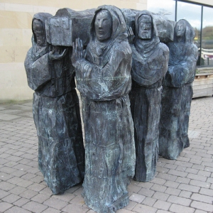 The Journey - a sculpture by Fenwick Lawson outside Durham Library