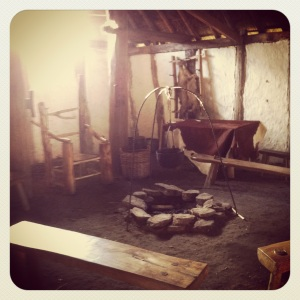 Inside an Anglo Saxon hall